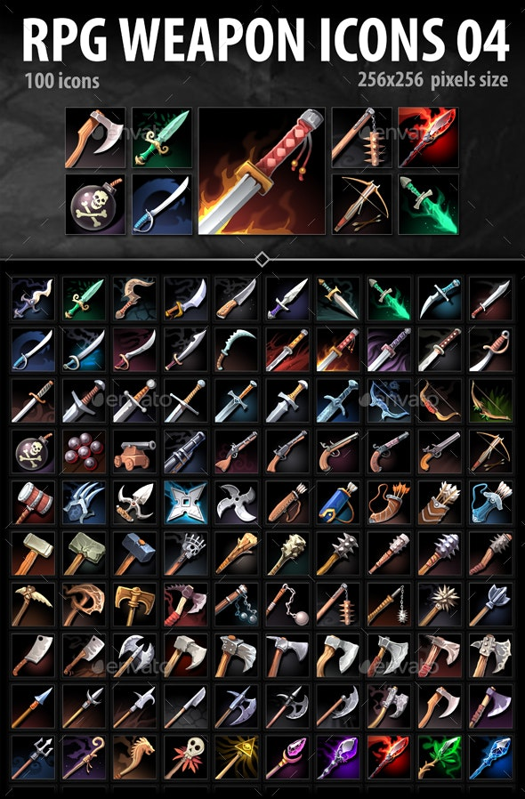 RPG Weapon Icons 04 - Miscellaneous Game Assets