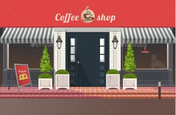 Shop or Coffee House Building - Buildings Objects