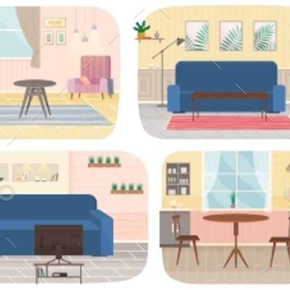 Flat Design Interior