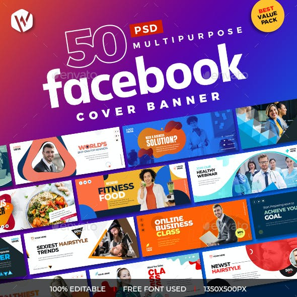 50 Multipurpose Facebook Cover Banners