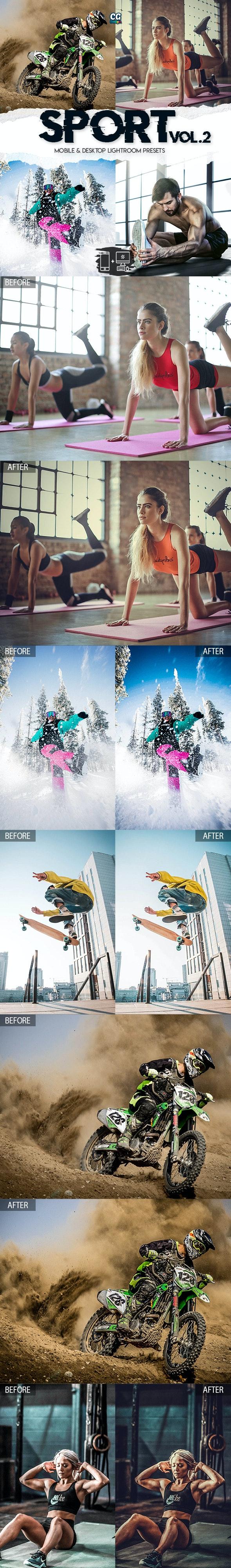 Sport Lightroom Presets Vol. 2 - 15 Premium Lightroom Presets - Lightroom Presets Add-ons