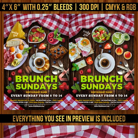 Brunch Sundays Flyer Template