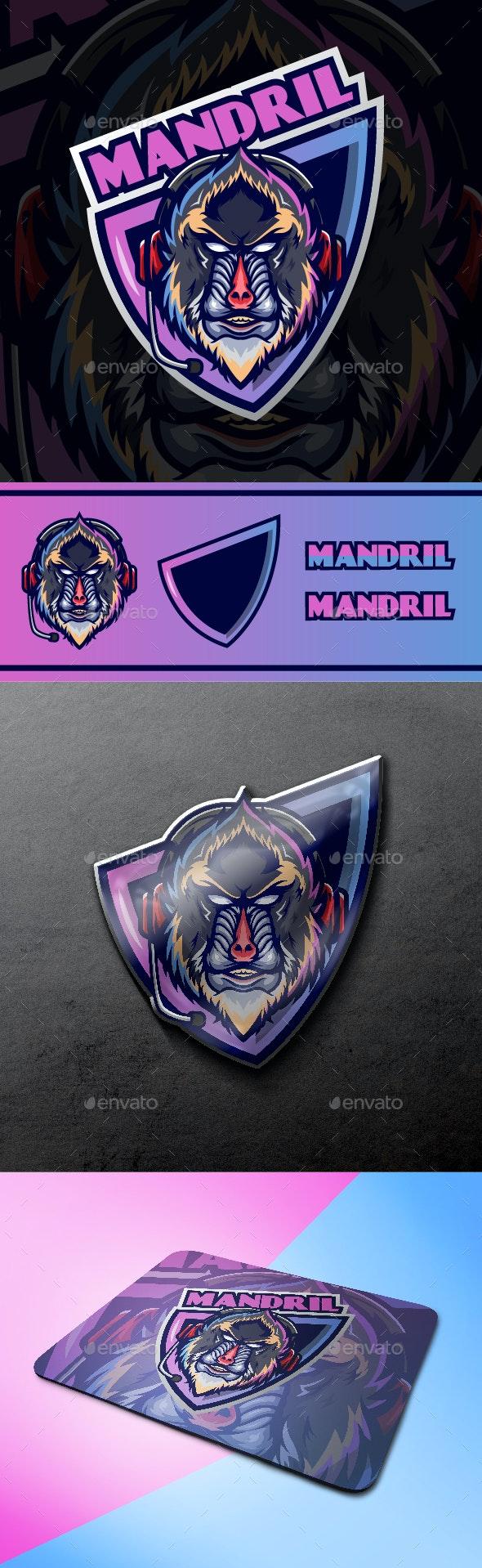 Mandrill Baboon Logo - Animals Logo Templates