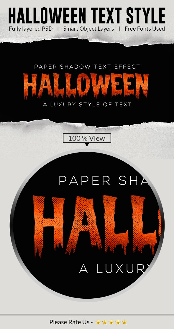 Halloween Text Effects Style - Text Effects Styles