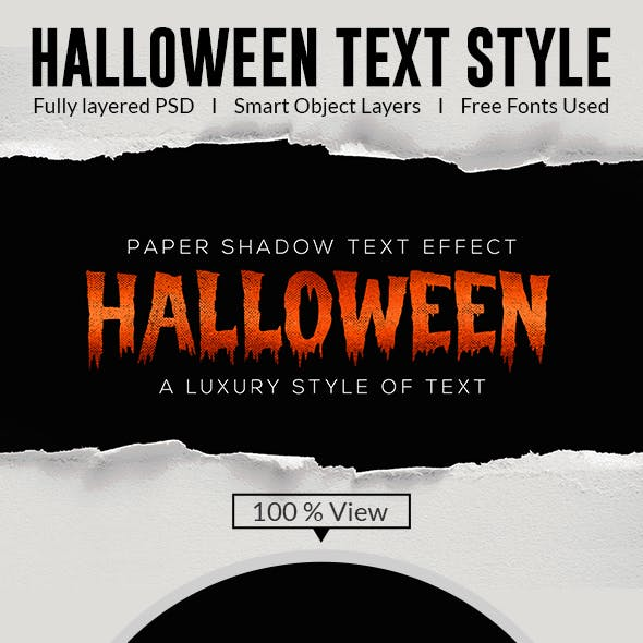 Halloween Text Effects Style
