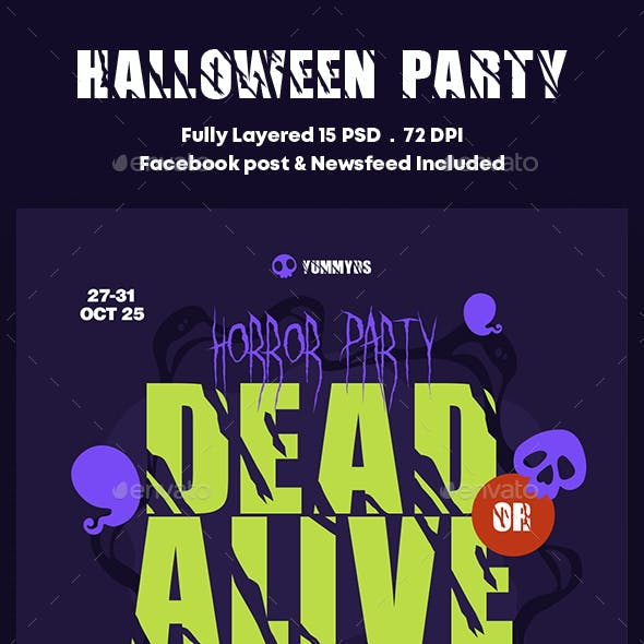 Halloween Party Banners Ad