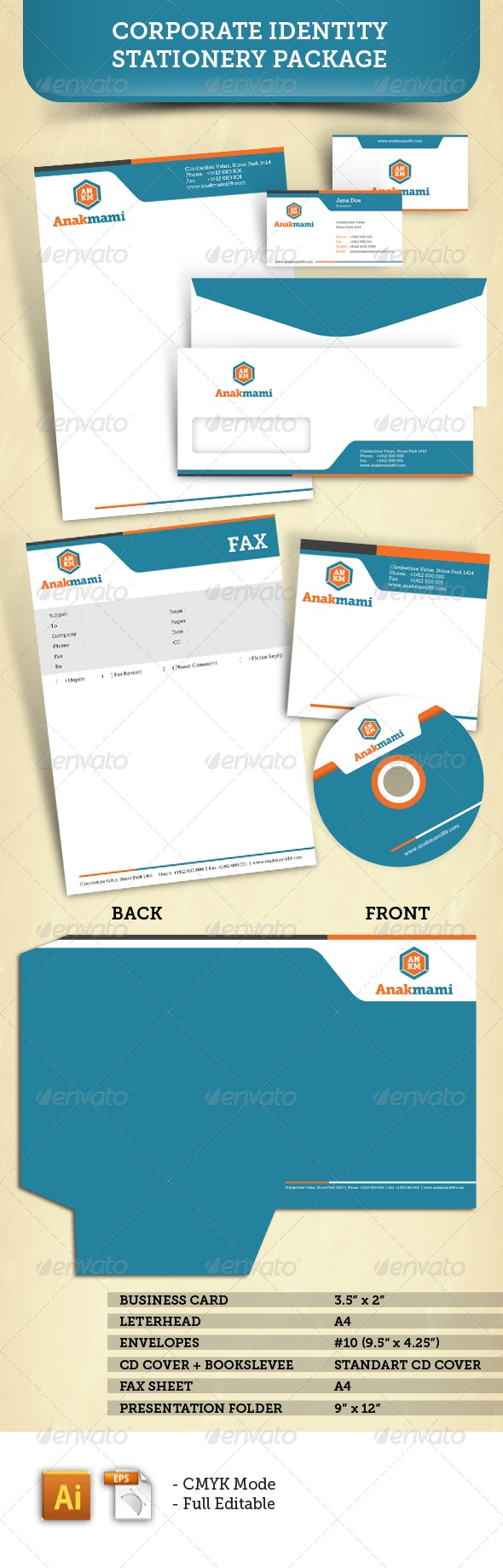 Corporate Identity Stationery Package - Corporate Business Cards