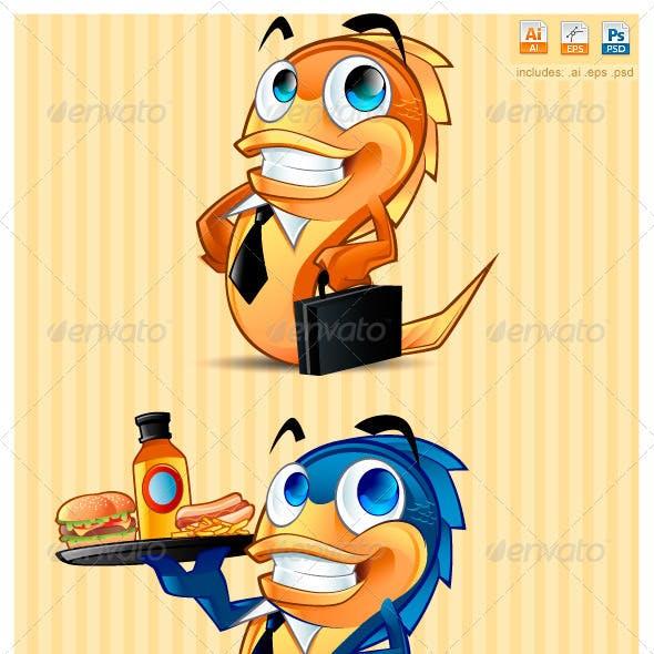 Business Waiter Fish