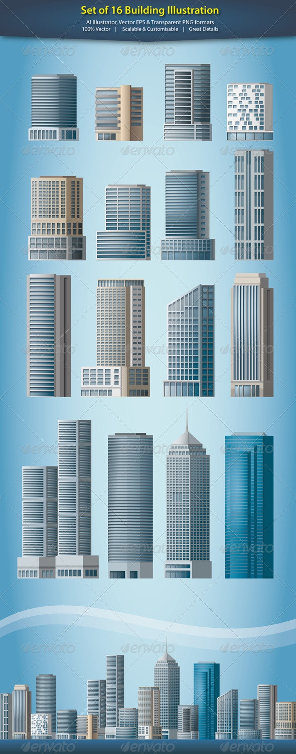 Building Illustration - Buildings Objects