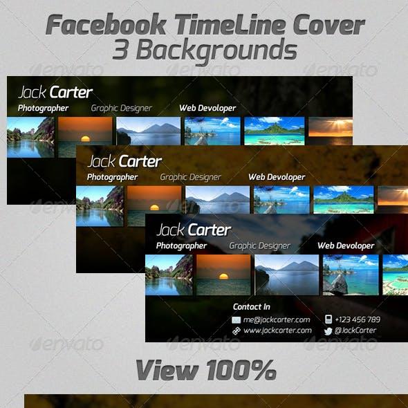 Facebook TimeLine Cover - 3 Backgrounds