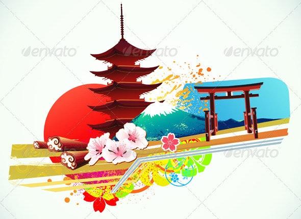 Decorative Traditional Japanese background - Backgrounds Decorative