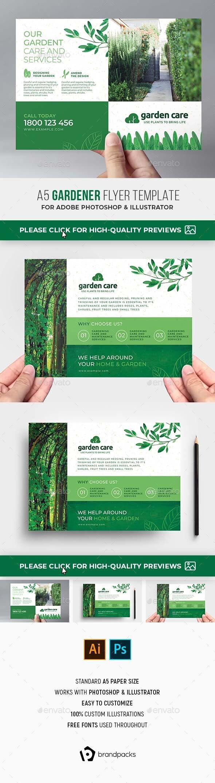 Gardener Flyer Template - Flyers Print Templates