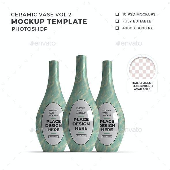 Ceramic Vase 3D Mockup Template Vol 2