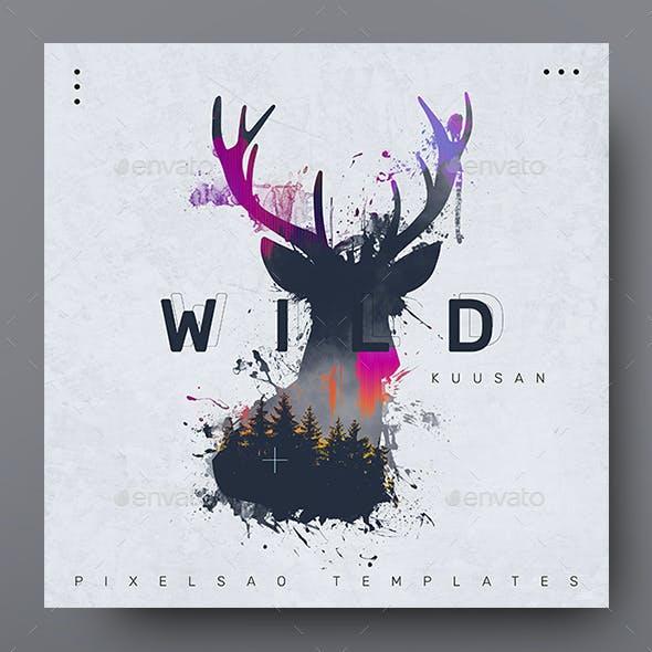 Wild – Music Album Cover Artwork Template