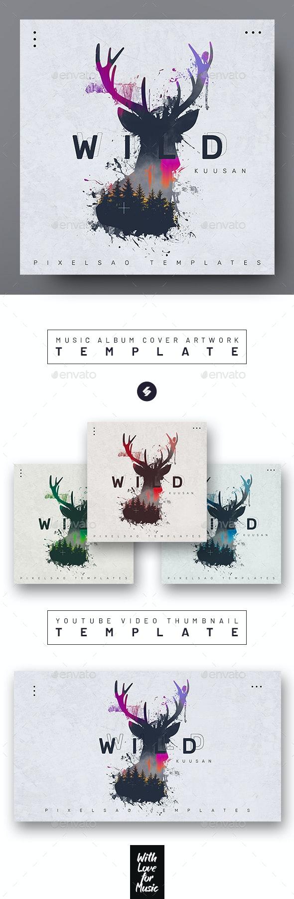 Wild – Music Album Cover Artwork Template - Miscellaneous Social Media