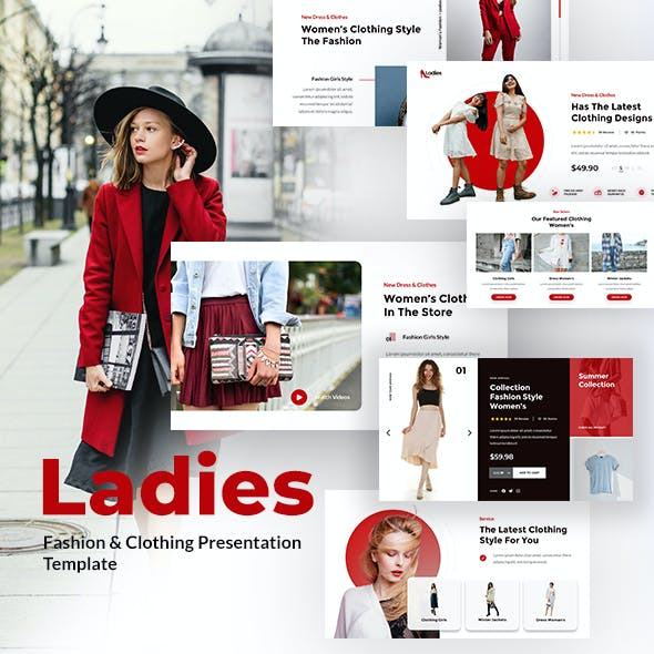 Ladies - Fashion & Clothing PowerPoint Template