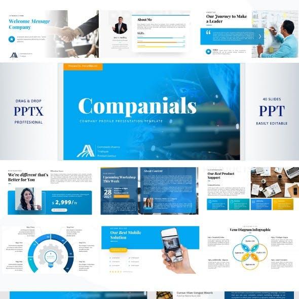 Companials - Company Profile Presentation PowerPoint Template