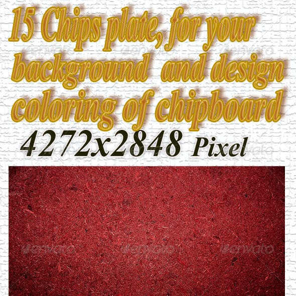 Chips plate, coloring of chipboard
