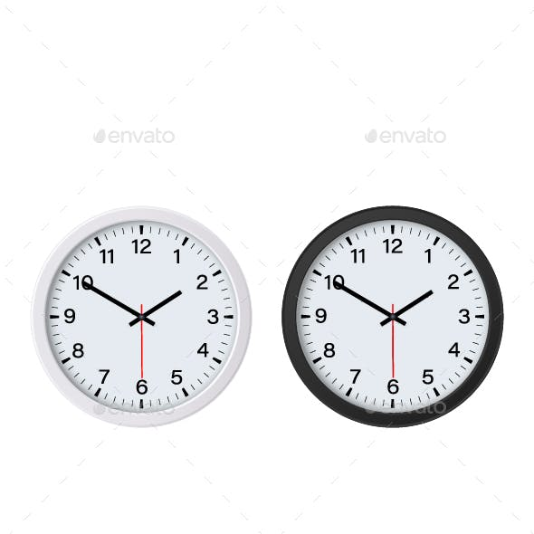 Round Wall Clock Mockup