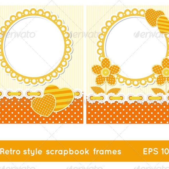 Retro Style Scrapbook Frames
