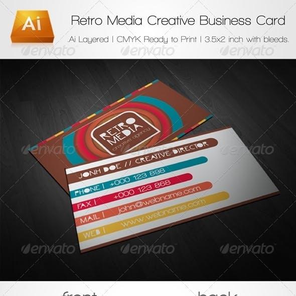 Retro Media Creative Business Card