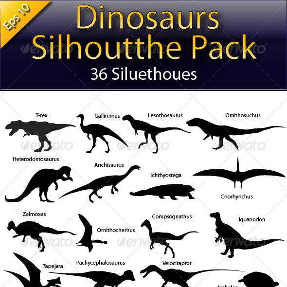 Dinosaurs Silhouette Pack