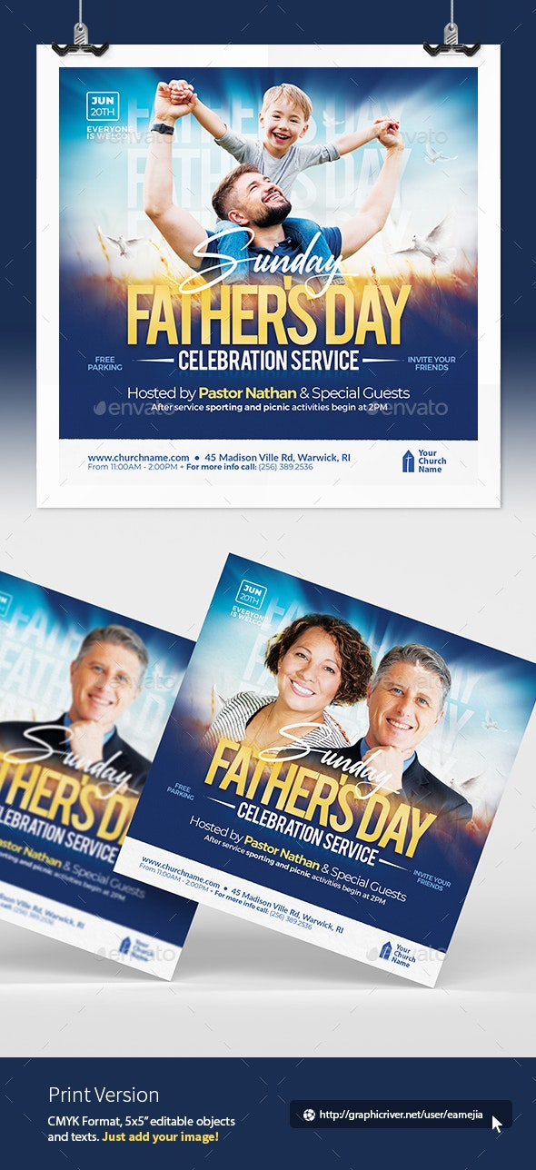 Fathers Day Flyer - Church Flyers