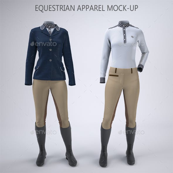 Women's Equestrian Riding Apparel Mock-Up