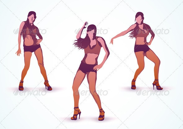 Dancing girls  - People Characters