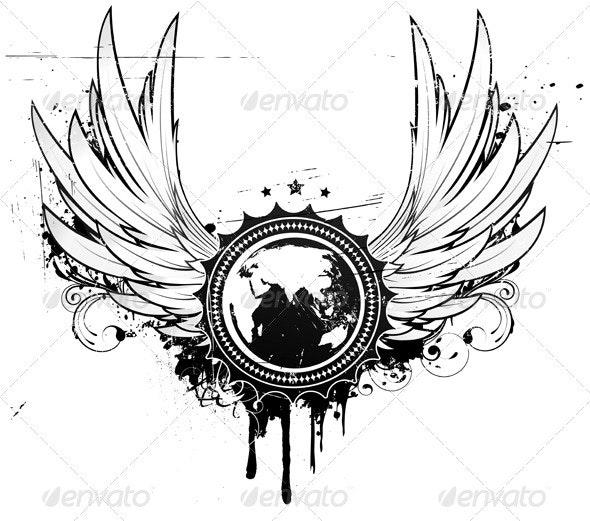 Grunge badge  - Decorative Vectors