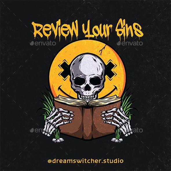 Skull Reading Book