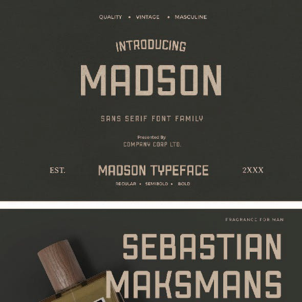 Madson - Masculine Modern Typeface