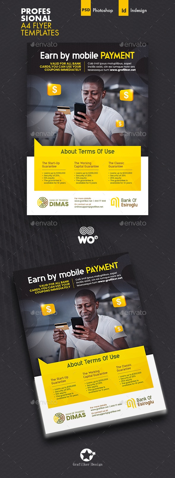 Mobile Payment Flyer Templates - Corporate Flyers