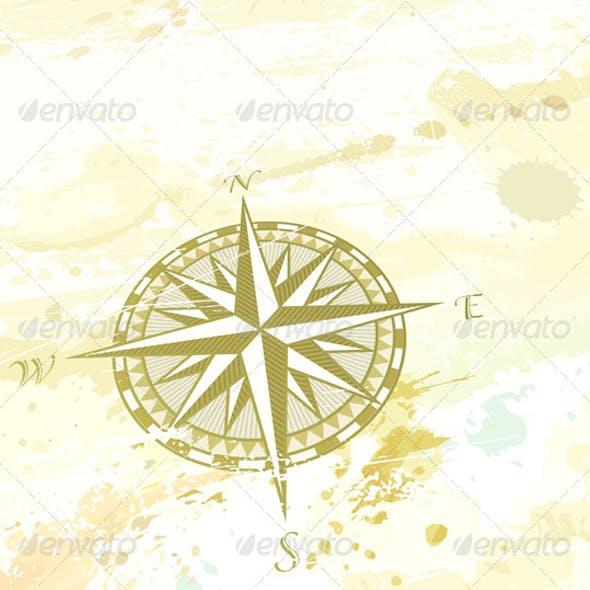 Retro compass windrose