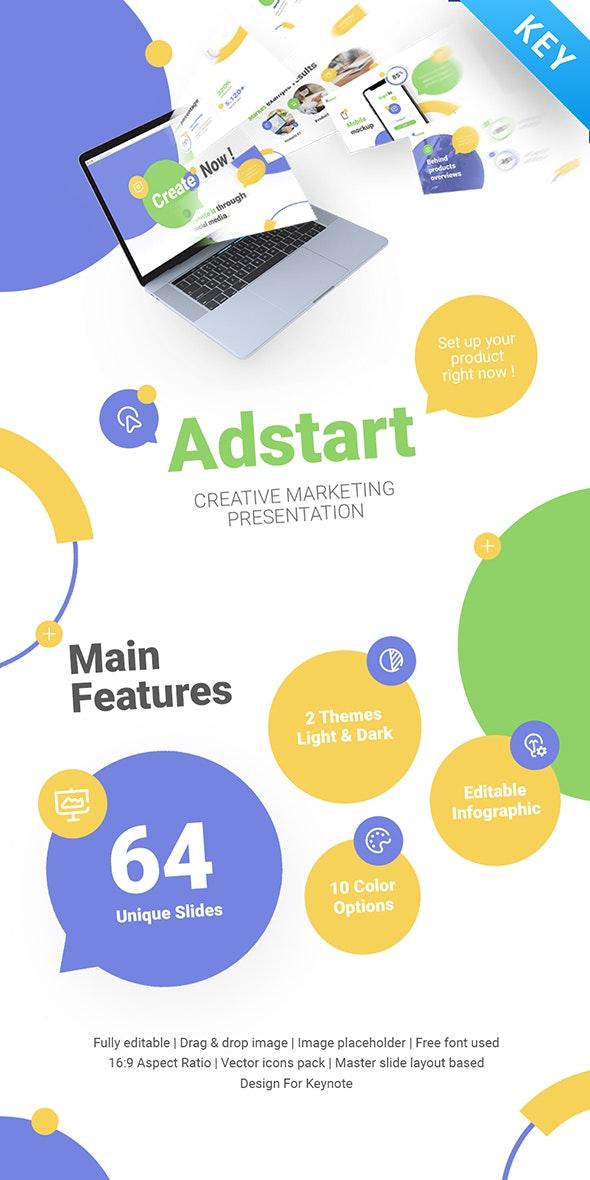 AdStart Creative Marketing Keynote Template - Creative Keynote Templates