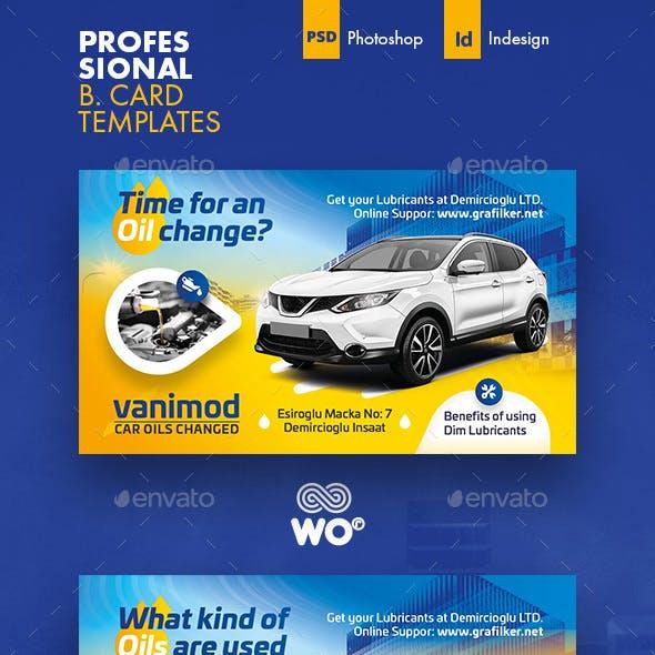 Car Maintenance Business Card Templates