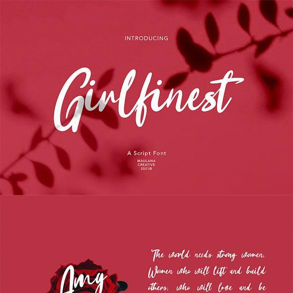 Girlfinest Script Font