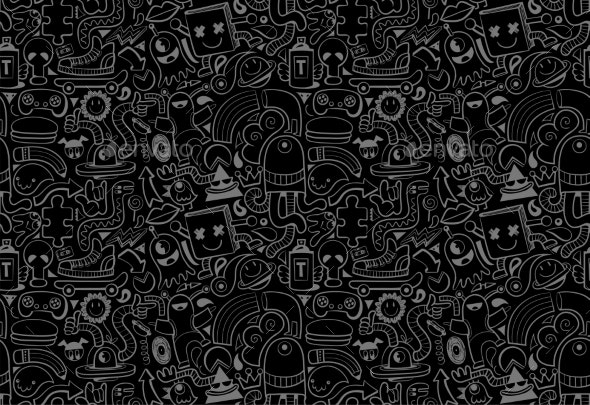 Cool Modern Seamless Pattern - Miscellaneous Vectors