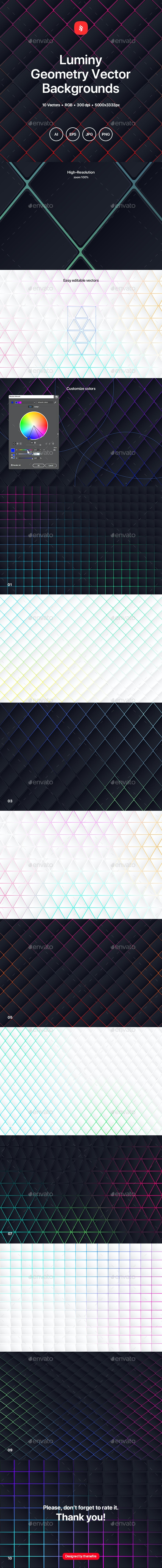 Luminy - Geometry Vector Backgrounds - Patterns Backgrounds