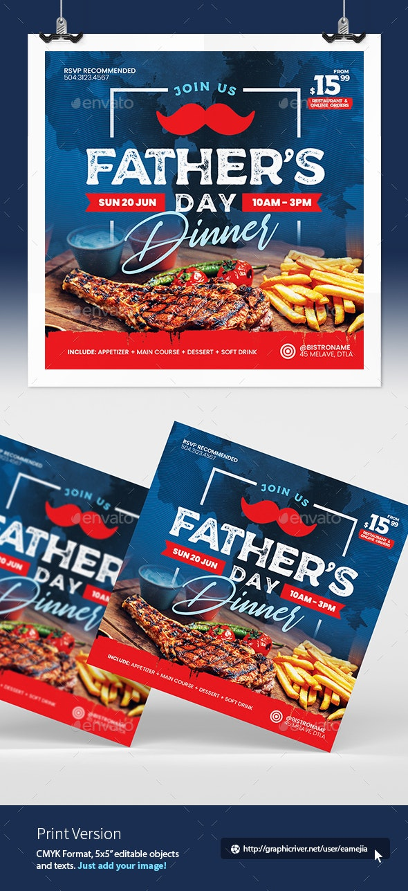 Fathers Day Flyer - Restaurant Flyers