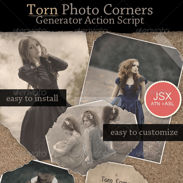 Torn Photo Effect Action