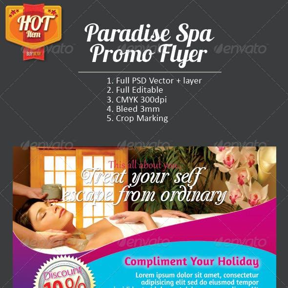 Paradise Spa Promo Flyer