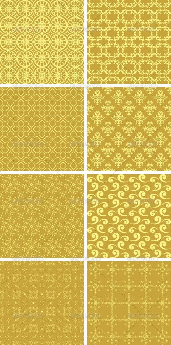 Gold Geometric Patterns - Patterns Decorative