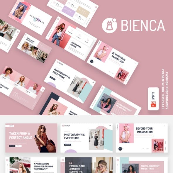Bienca - Fashion Photography Powerpoint Template