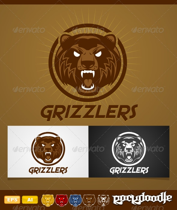 Grizzlers - Animals Logo Templates