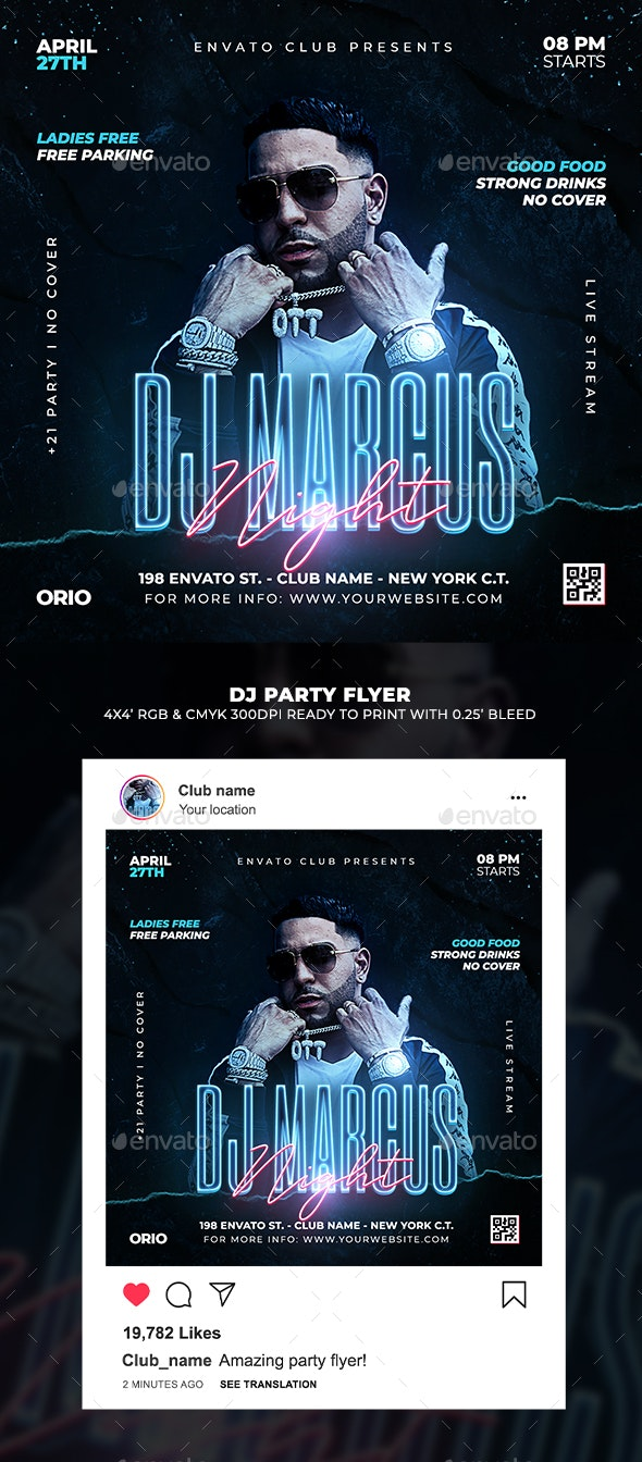 Artist DJ Party Flyer - Clubs & Parties Events