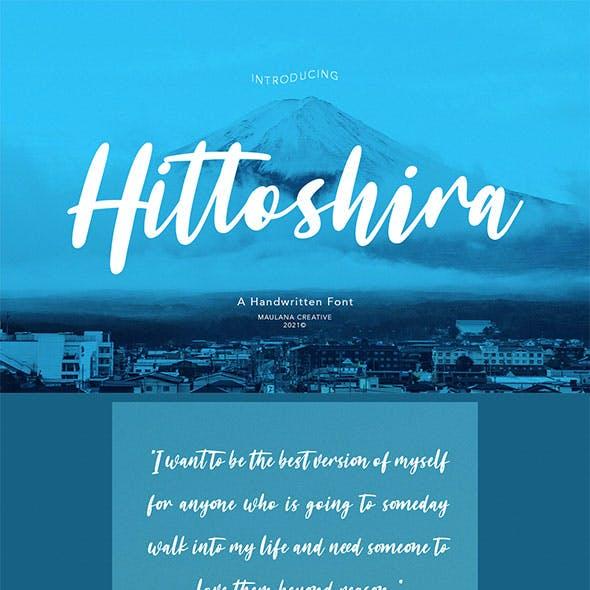 Hittoshira Handwritten Script Font
