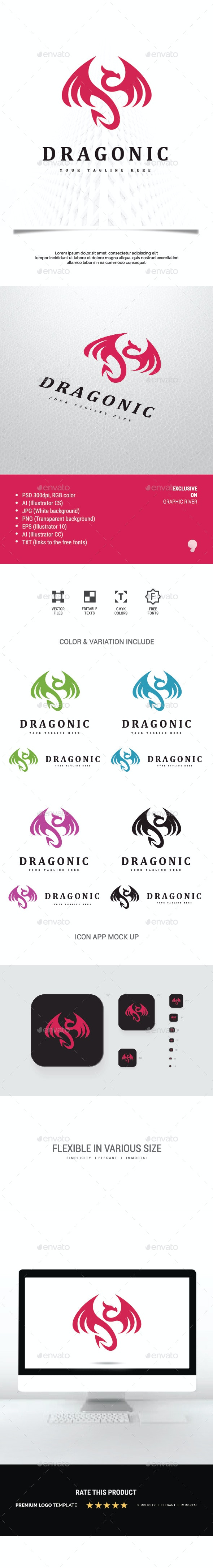 Dragonic Logo - Animals Logo Templates