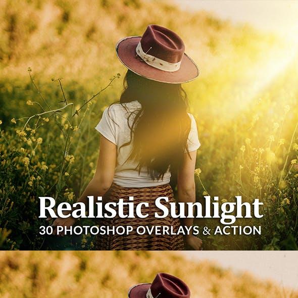 Realistic Sun Light Photoshop Overlays Action