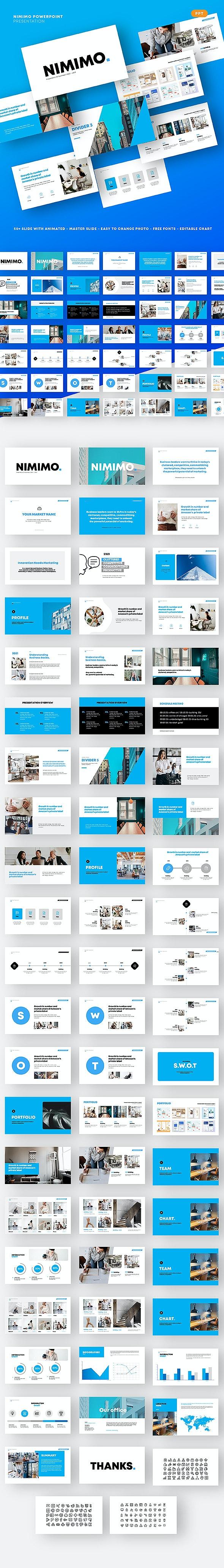 Nimimo Simple Presentation - PowerPoint Templates Presentation Templates